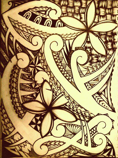 1977e7808 Polynesian Tribal by ~tpetelo on deviantART I would so love to have this as  a quarter sleeve!