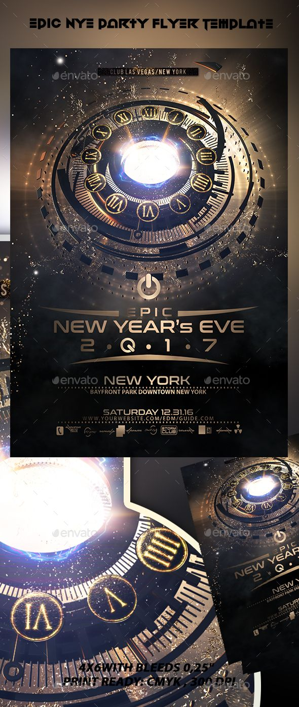 Epic New Year Flyer Template V2