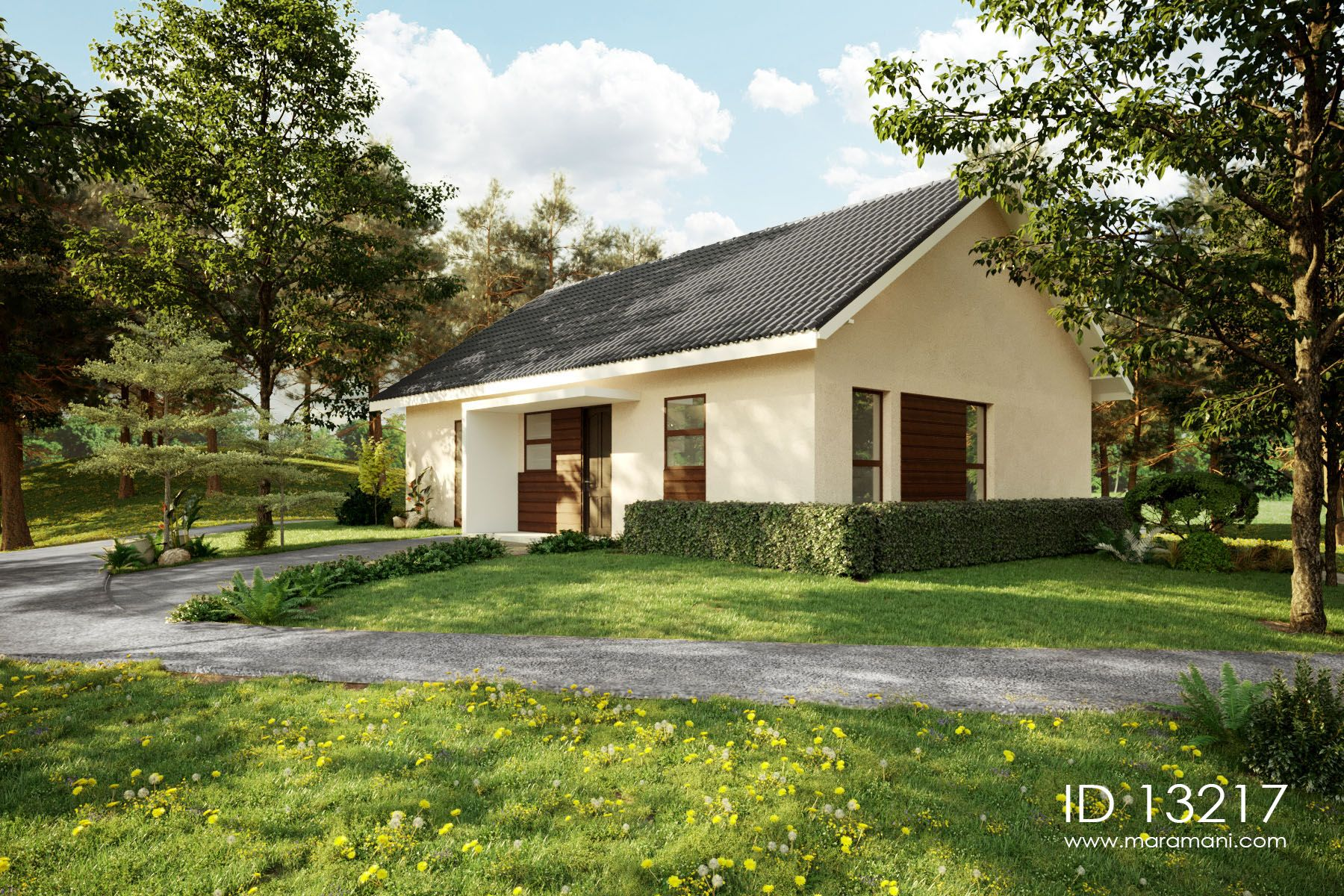 3 Bedroom House With Gable Roof Id 13217 Design By Maramani Architecture Design Architecture Luxury House Plans