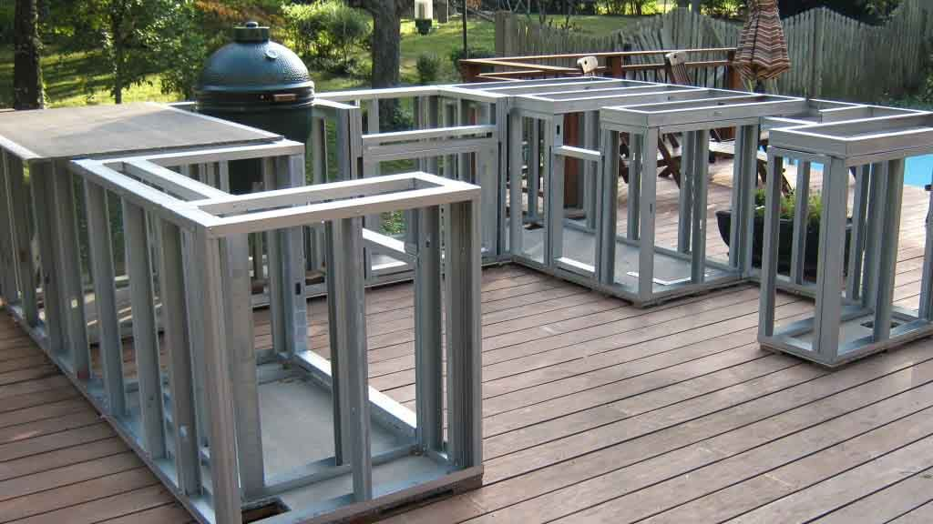 Build Outdoor Kitchen Frame Build Outdoor Kitchen Outdoor Fireplace Plans