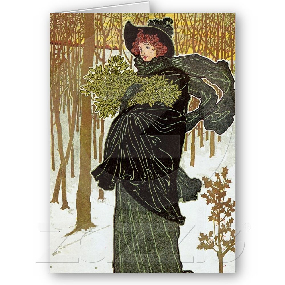 Art Nouveau Christmas | Things for My Wall | Pinterest