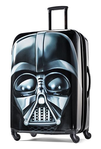 522d4a770 This Star Wars Darth Vader hardside spinner upright is a full-fledged  member of the travel Empire. #ForceOfFamily
