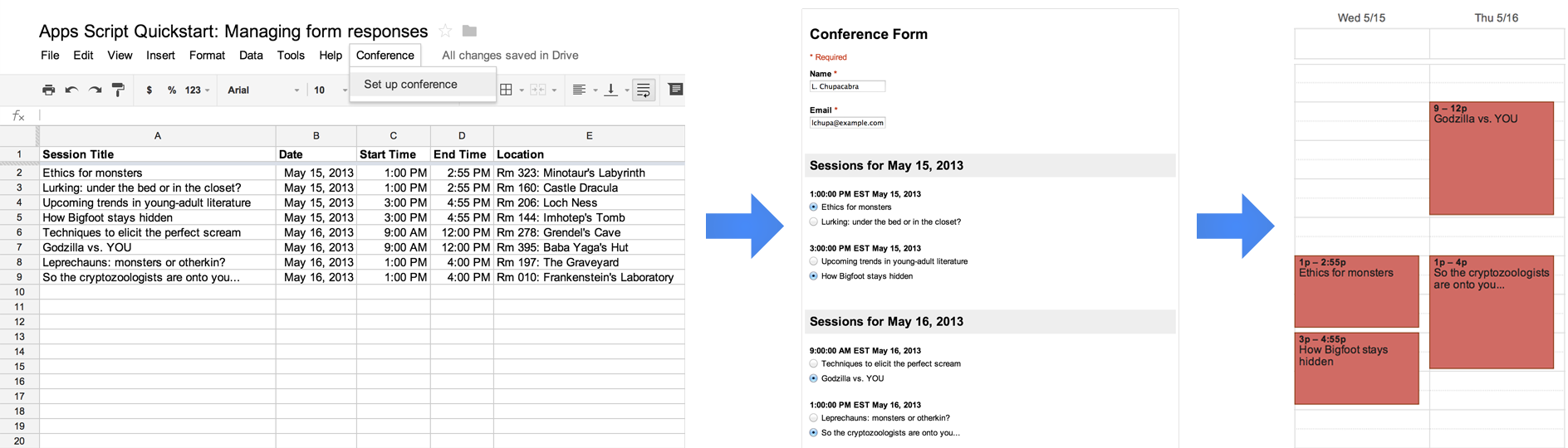 Quickstart Managing Responses for Google Forms Google
