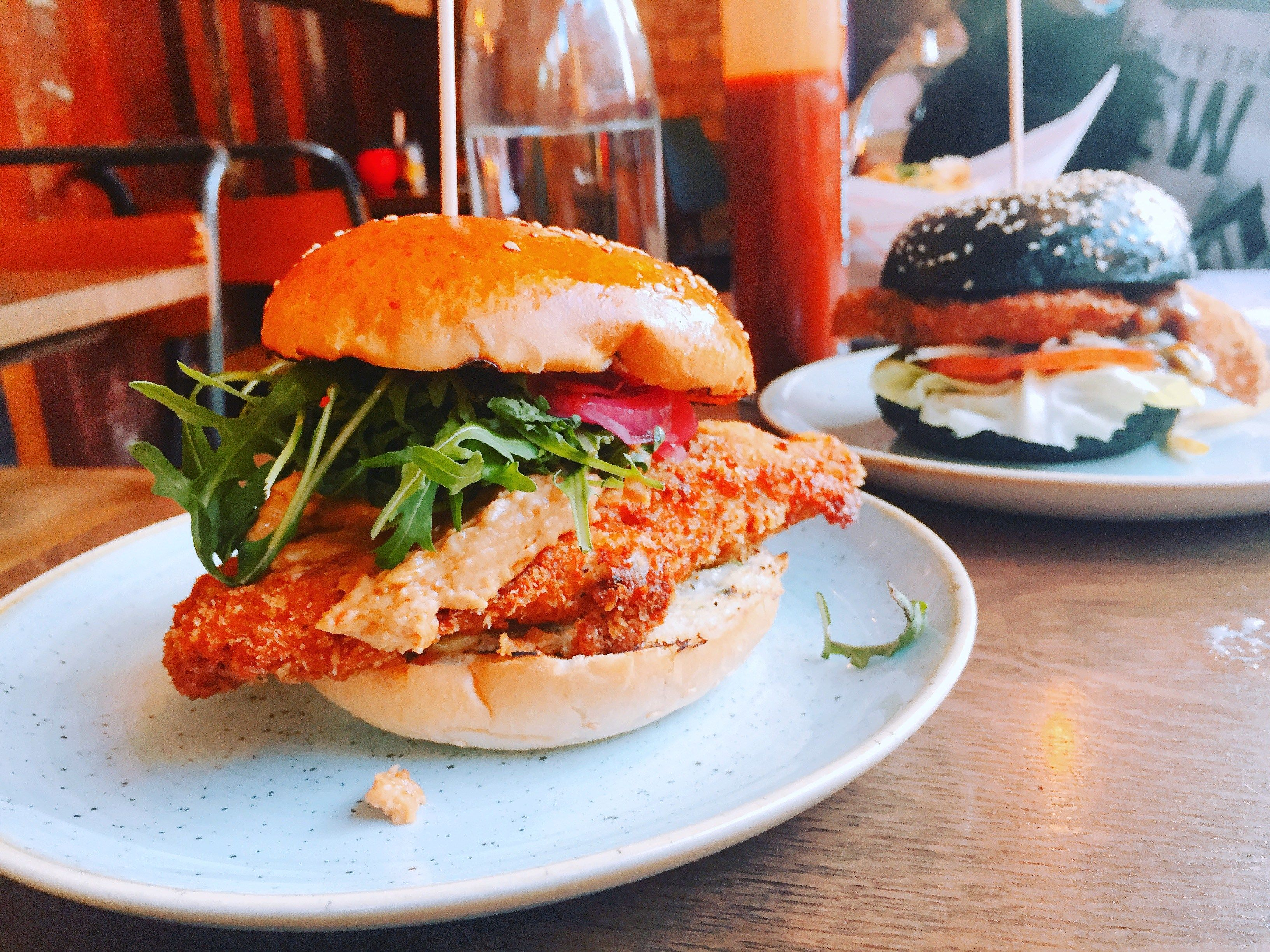 Halal Status Only The Japanese Panko Fried Chicken Is Halal You Can Order That With Any Burger Combo Not Just The London Food Restaurants Gbk Burger Burger