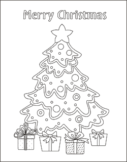 Free Christmas Coloring Pages Christmas Tree Coloring