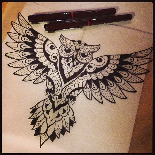 Dominique Holmes On Instagram Werk Tattoo Tattoodesign Mehndi Sketch Drawing Design Owl Isitabird Yesitis Geometric Owl Tattoo Knee Tattoo Tattoos