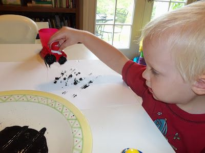 '100 Ways to entertain a toddler'. This Mom has fun (and funny) ideas to interest her toddler. She rates each with a grade to it's success. All for B's age.