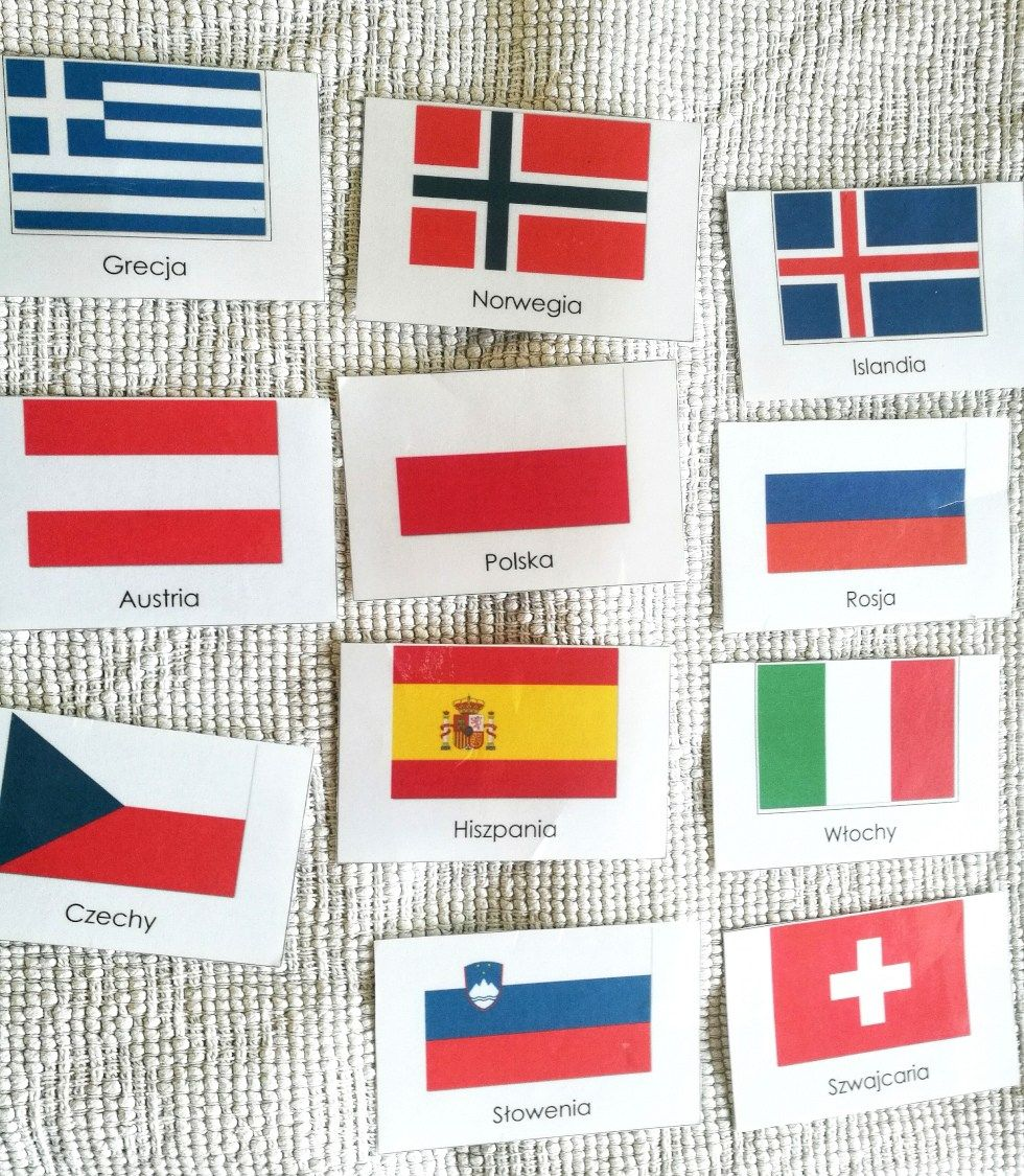 Karty Montessori Do Druku Flagi Europy Cards Playing Cards