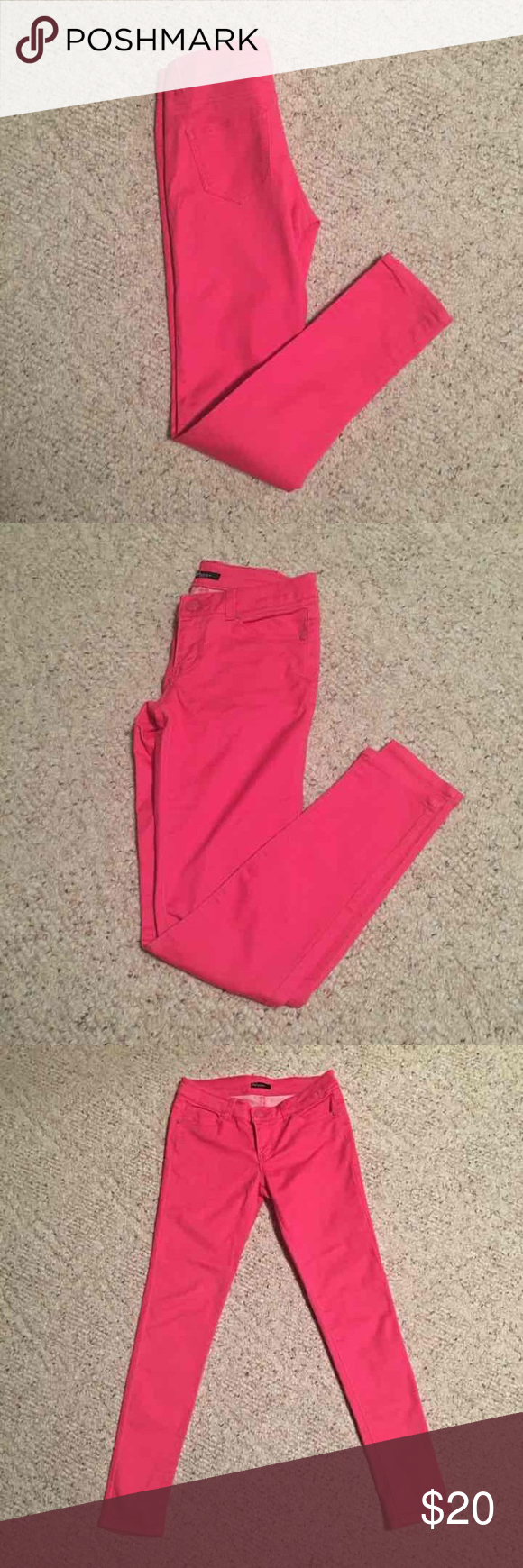 Selling this Hot Pink Skinny Jeans size 1 on Poshmark! My username is: ckhoffma. #shopmycloset #poshmark #fashion #shopping #style #forsale #Reve Jeans #Pants