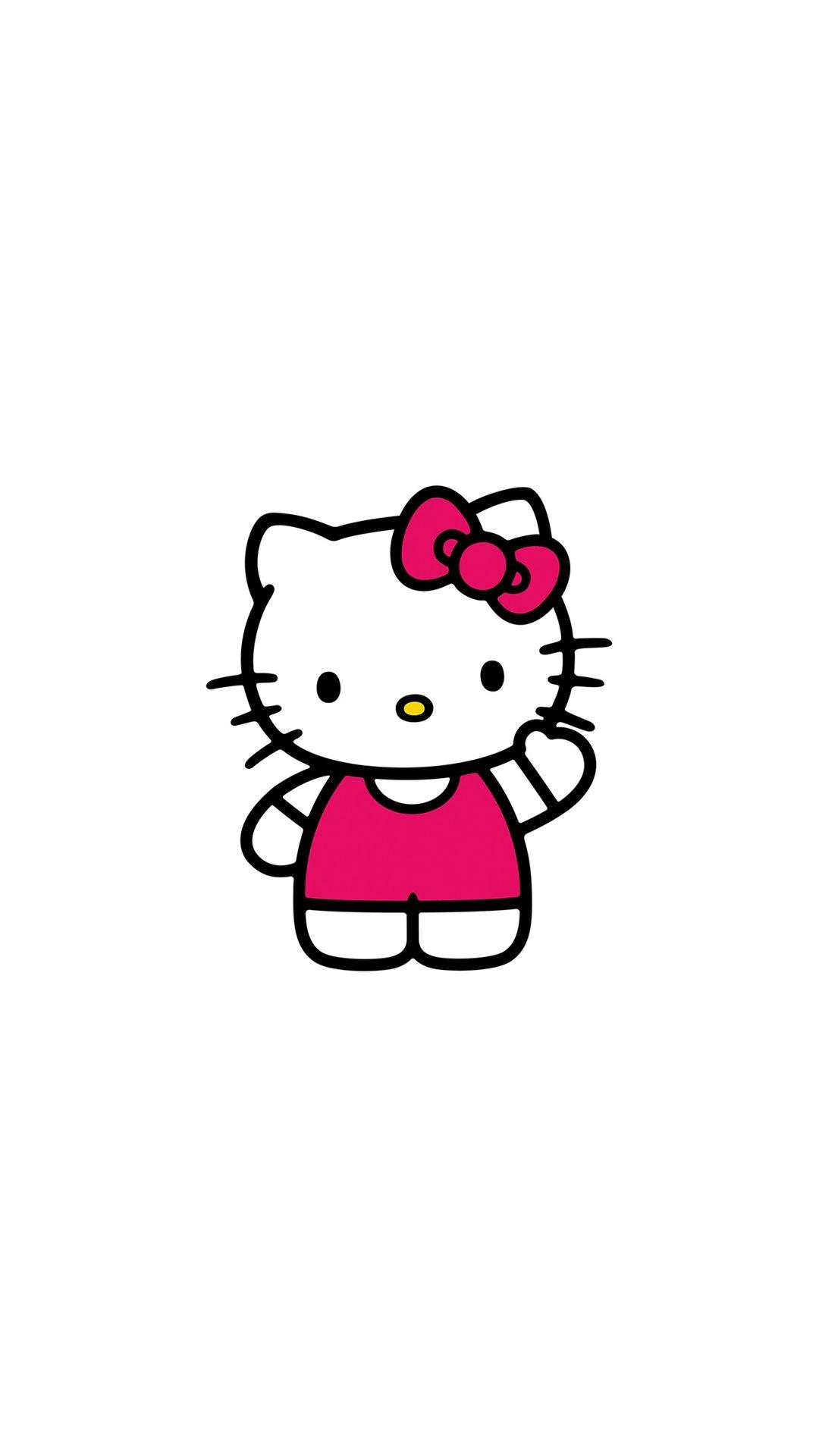 Hello Kitty Art Cute Logo Minimal iPhone 8 Wallpapers