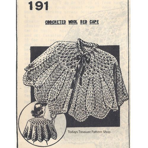 Crochet Bed Cape Pattern Mail Order 191 Crochet Cardigan Jacket
