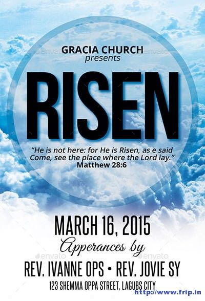 He-Is-Risen-Church-Flyer Church Graphic Design Pinterest - church flyer template