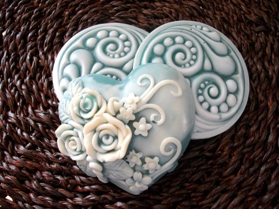 Beautiful blue flower soap #flower #soap