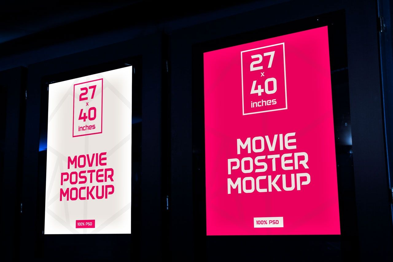 Theater poster mockup