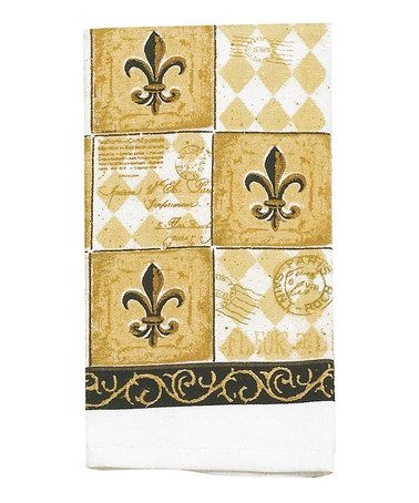Loving this Maj Fleur-de-Lis Dish Towel - Set of Two on #zulily! #zulilyfinds