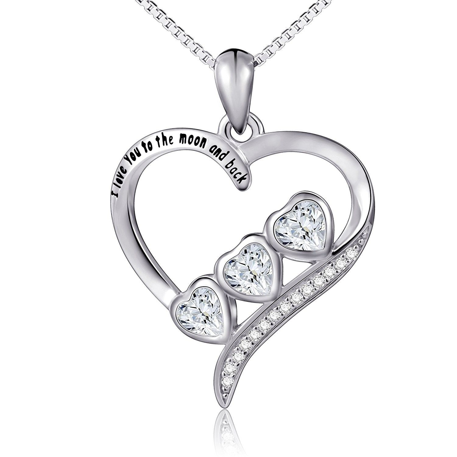 Details about  /Sterling Silver 1//10 cttw Black White Diamond Infinity Necklace