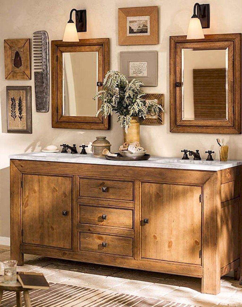 63 Rustic Farmhouse Bathroom Remodel Ideas Bathroom
