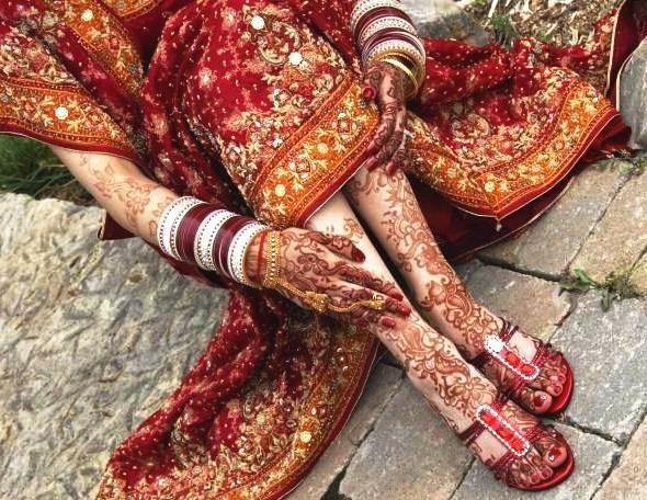 Henna Mehndi Nail Art : Mendi and nail art of india hand decor