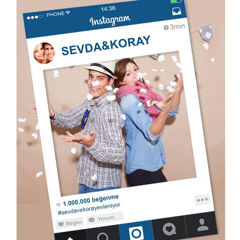 Kişiye Özel Instagram Hatıra Çerçevesi | Doğum Günü Hediyesi | Pinterest