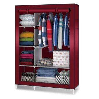 Admirable 88105 Storage Wardrobe Clothes Organizer Red Home And Beutiful Home Inspiration Ommitmahrainfo