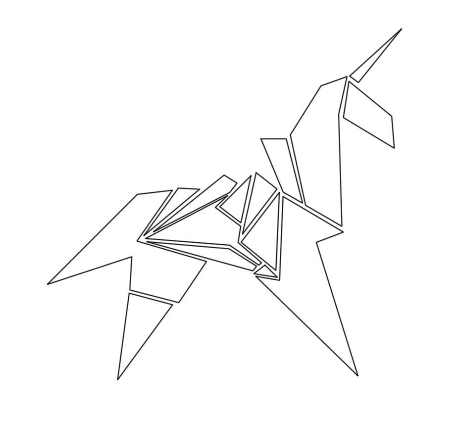 Blade Runner Origami Unicorn Pin: Replicant Unicorn Tattoo From Bladerunner By Thira