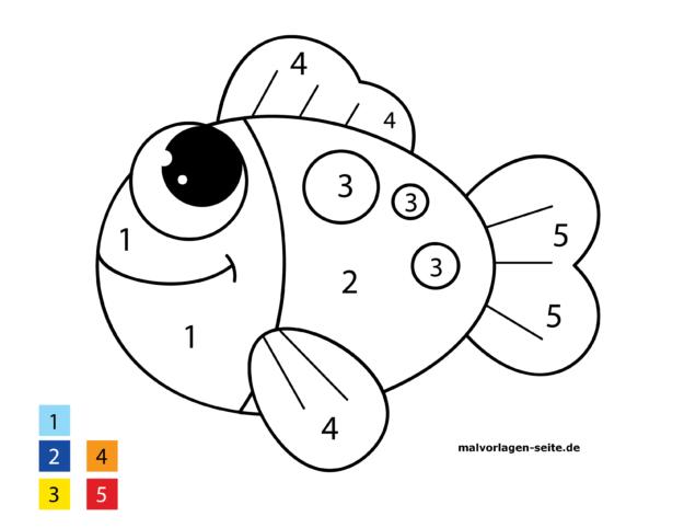 Malen Nach Zahlen Fisch Malvorlagen Malen Nach Zahlen Malvorlagen Zum Ausdrucken