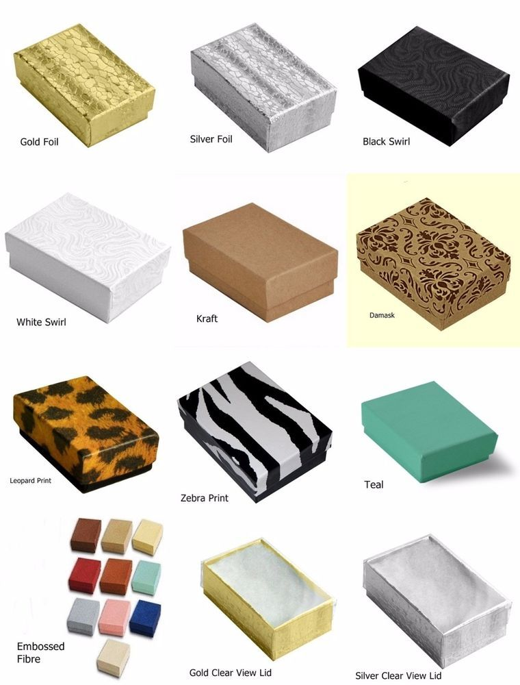 Cotton Filled Jewelry Gift Box Jewelry Packaging Craft Collectible
