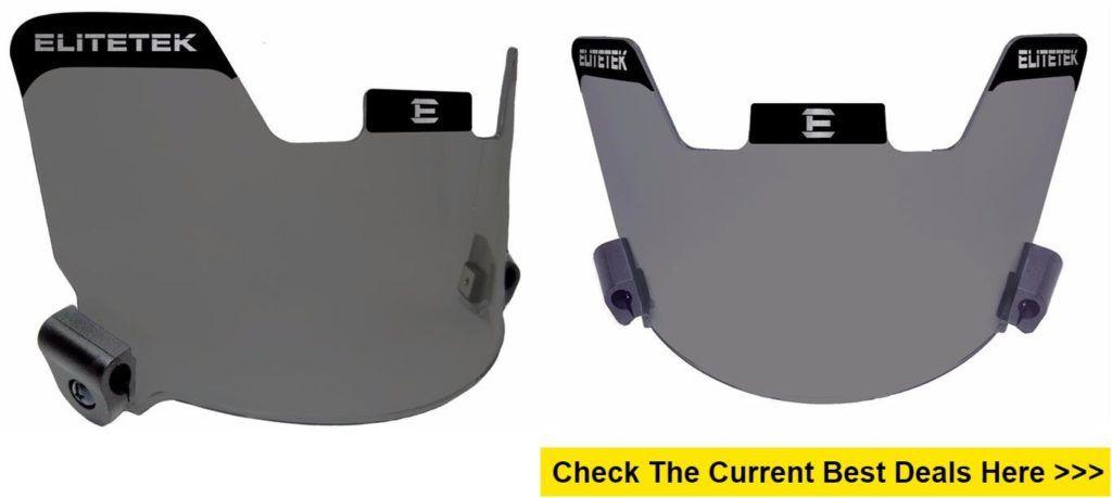 Elitetek football eyeshield visor smoke tinted cool