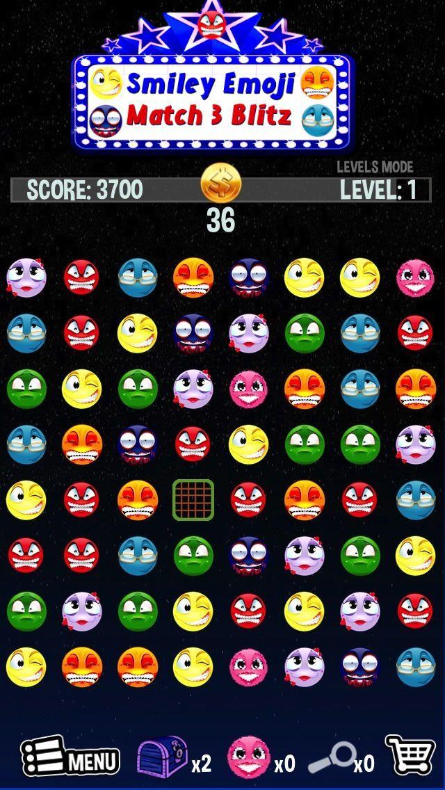 Smiley Emoji Expert Match 3 Blitz Fun Emoticon M3 symbols