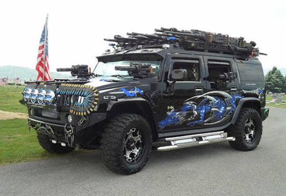 The Black Knight Hummer H2 Car Made For Zombie Apocalypse