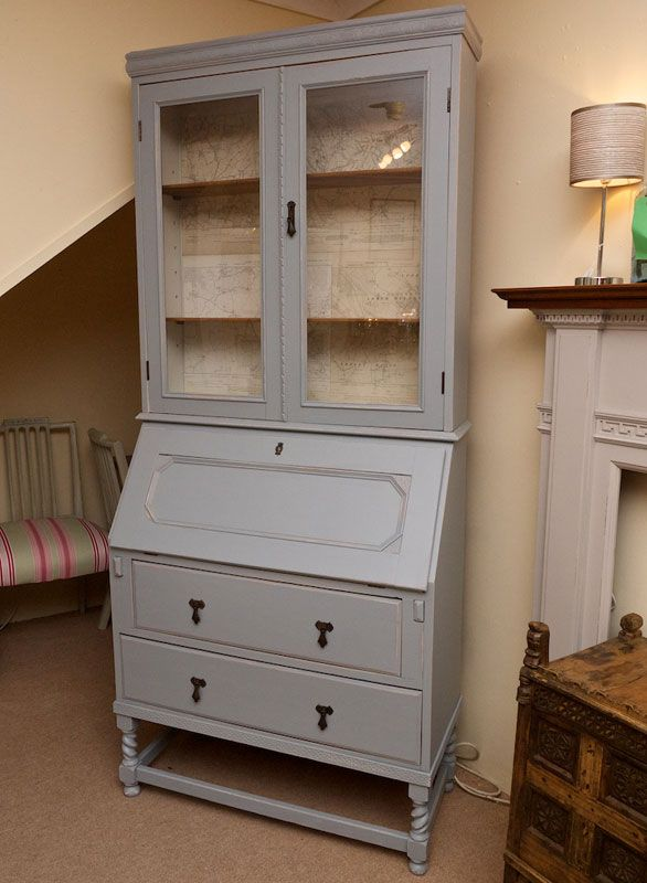 Best Painted Bureau Furniture Renovation Upcycle Bookcase 640 x 480