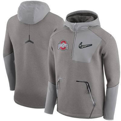 Ohio State Buckeyes Nike 2016 College Football Playoff Media Day  Quarter-Zip Jacket - Gray