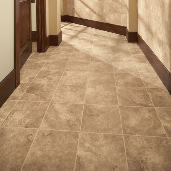 Daltile Nubi Bianche 12 X 12 Field Tile On The Floor With Coordinating 10 X 14 Wall Tile In A Brick Joint Pattern On The Wall Flooring Daltile Tiles