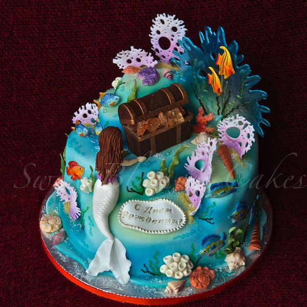 Under The Sea Cake Everything Edible Chocolate Mm Fondant Hard