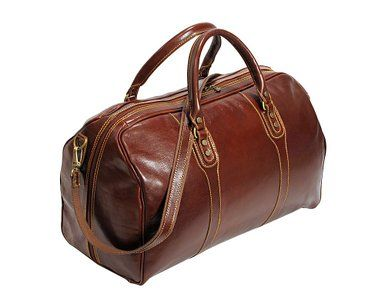 Amazon.com: Cenzo Duffle Vecchio Brown Italian Leather Weekender ...