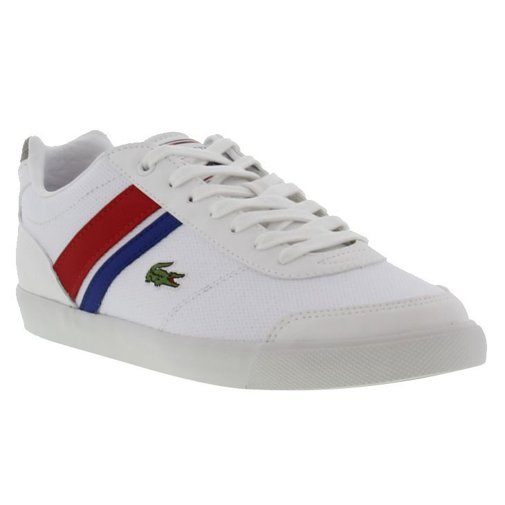 Lacoste Shoes Comba PRI SPM White Red  6299