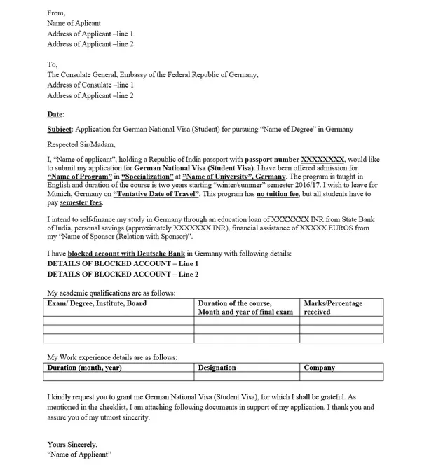 Motivation Letter For German Embassy Student Visa Sample What I Wish Everyone Knew About Mot In 2020 Cover Letter Lettering Visa