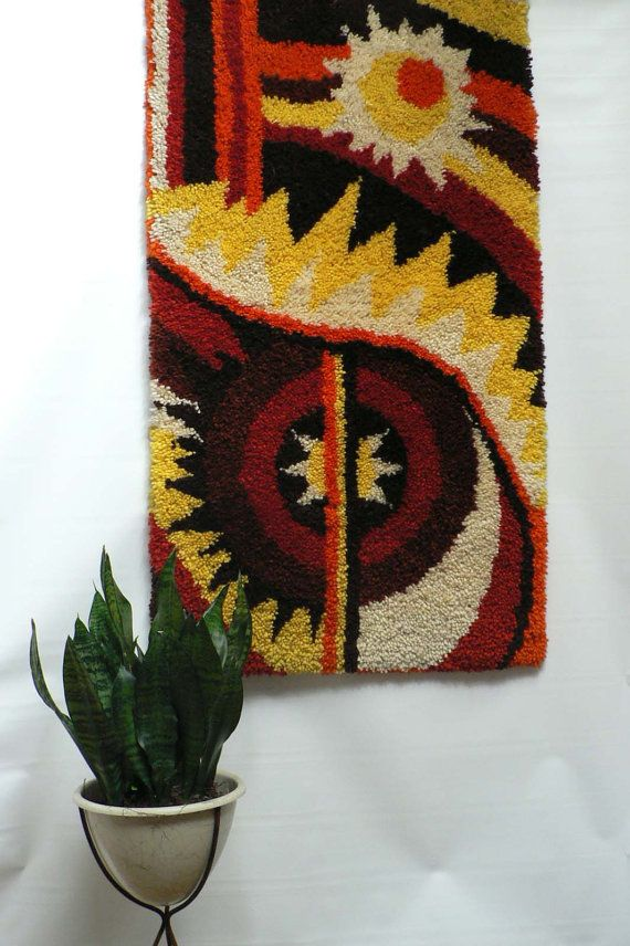 Vintage 1960s 70s Hand Knotted Wall Hanging By Secreteyesonly