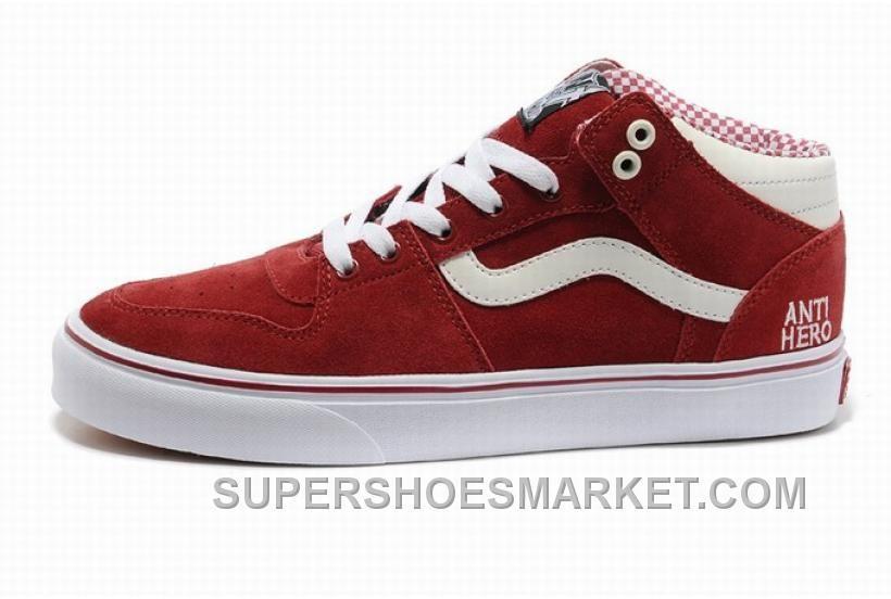 Vans TNT Red White Mens Shoes Online