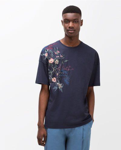 Image 3 of FLOWER PRINT T-SHIRT from Zara