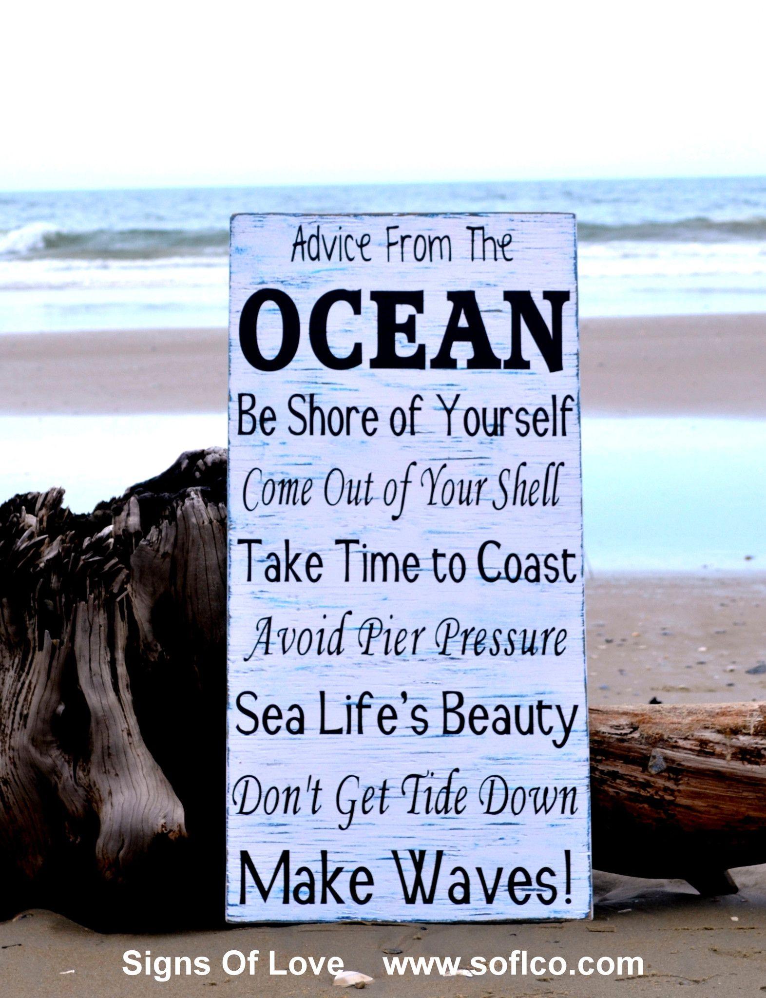 Ocean Beach Sign PHOTO Beach House Lessons Decor Wall Photo Decoration