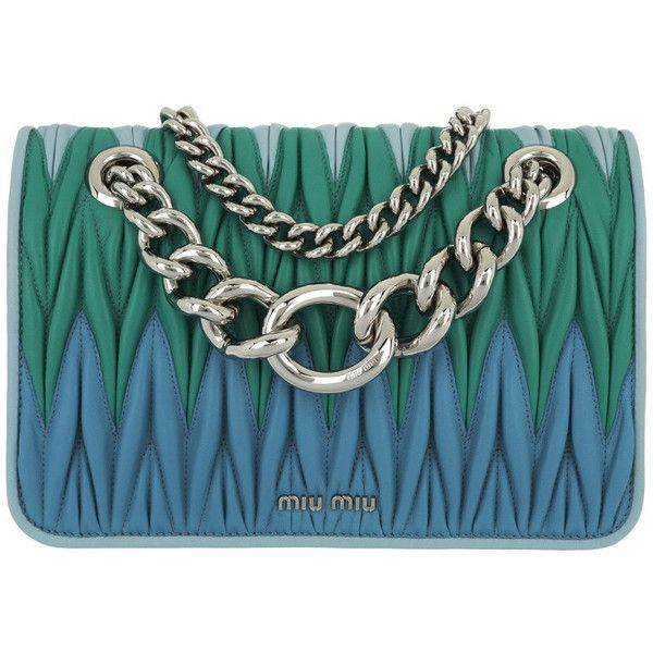 fa5467492c74 Miu Miu Shoulder Bag - Matelassé Crossbody Bag Calfskin Cielo - in...  ( 1