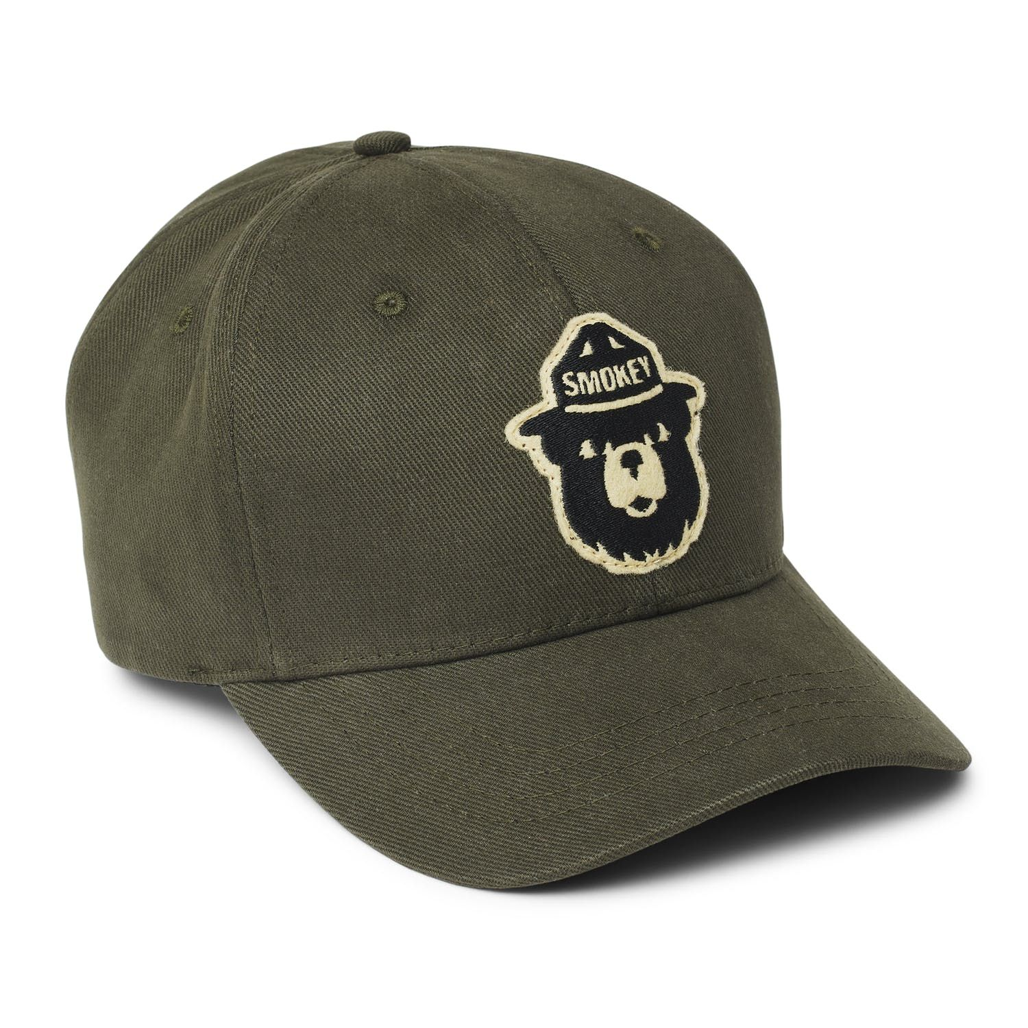 Smokey Bear US Forest Fire Service Trucker Hat Only You Vintage Green Patch Cap