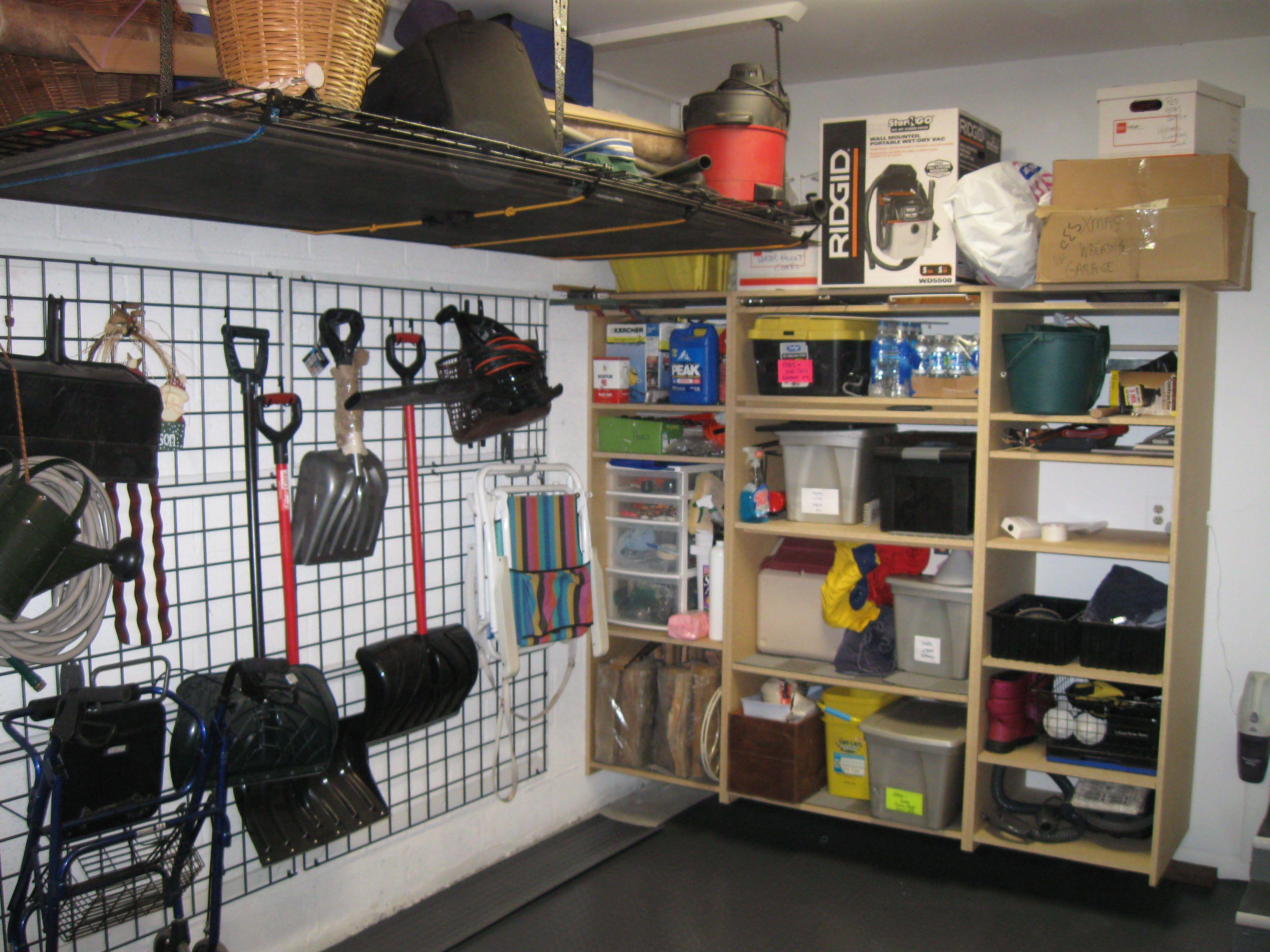 Beautiful Garage Makeover, Shelves