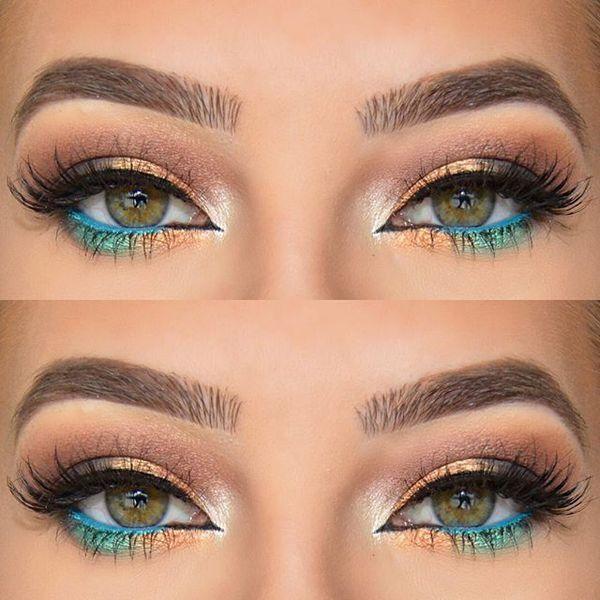 Pop Of Blue Gold Waterline Waterline Eyeshadow Colors