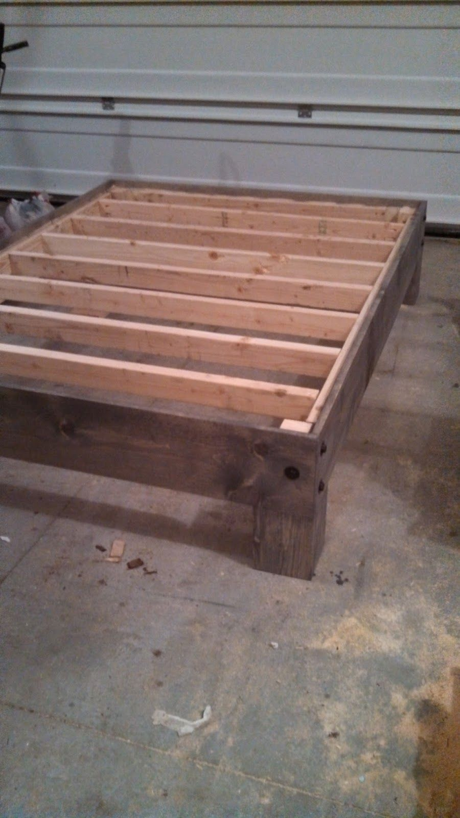 Diy Platform Bed Amp Salvaged Door Headboard Part Three