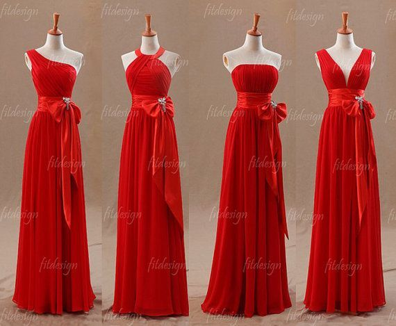 Mixed Designs Red Dresses