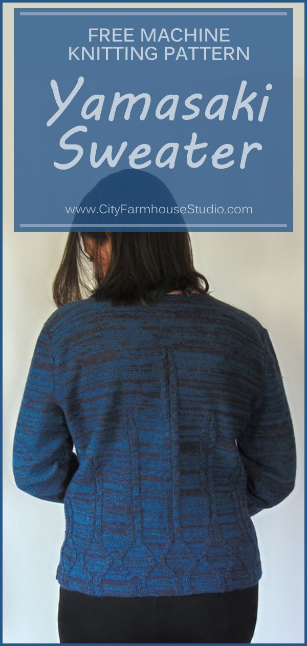 Free pattern for a machine knit sweater is at www ...
