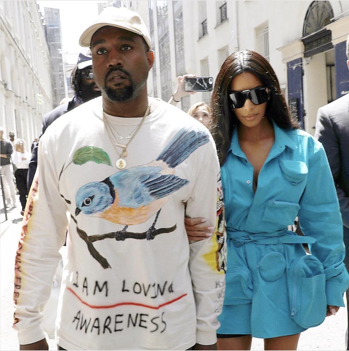 Kim Kardashian and Kanye West, Louis Vuitton, Paris Fashion