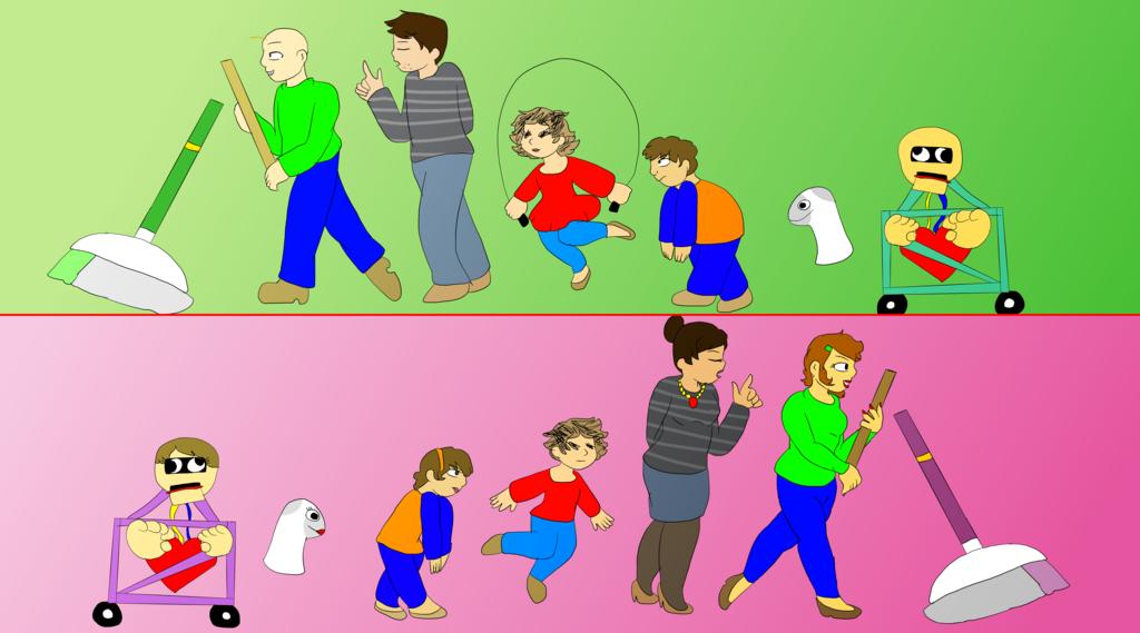 Baldis Basics (GenderSwap) by JouneFR